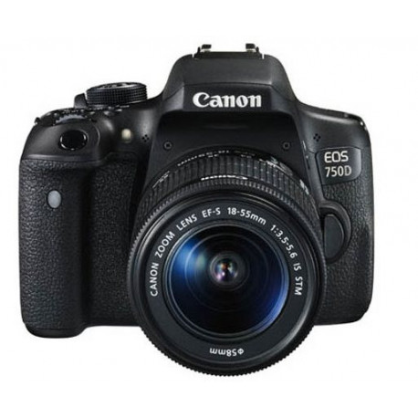 Canon EOS 750D + EF-S 18-55mm f/3.5-5.6 IS STM (употребяван)