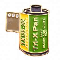 значка Official Exclusive Kodak Tri-X Vintage 35mm Film Canister Pin
