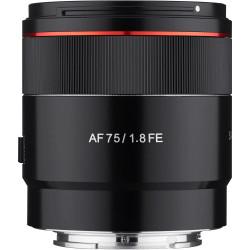 обектив Samyang AF 75mm f/1.8 FE - Sony E (FE) + аксесоар Samyang Lens Station - Sony E