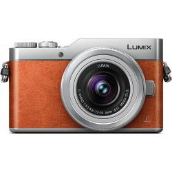 фотоапарат Panasonic GX800 (кафяв) + обектив Panasonic Lumix G 12-32mm f/3.5-5.6 MEGA OIS (сребрист)