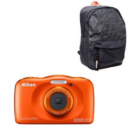 Nikon Coolpix W150 Orange + Backpack