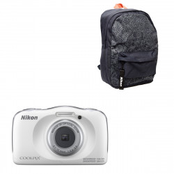 Nikon Coolpix W150 White + Backpack
