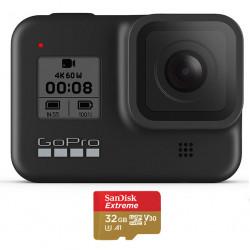 видеокамера GoPro HERO8 Black + карта SanDisk 32GB Extreme UHS-I Micro SDHC + SD Adapter