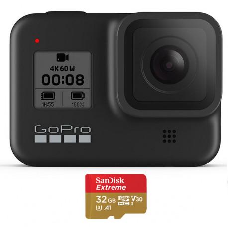 GOPRO HERO8 BLACK + SANDISK EXTREME MICRO SD 32GB CHDSB-801