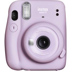 фотоапарат за моментални снимки Fujifilm Instax Mini 11 Instant Camera Lilac Purple + фото филм Fujifilm Instax Mini ISO 800 Instant Film 10 бр.