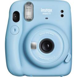 фотоапарат за моментални снимки Fujifilm Instax Mini 11 Instant Camera Sky Blue + фото филм Fujifilm Instax Mini ISO 800 Instant Film 10 бр.