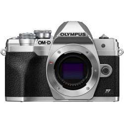 фотоапарат Olympus OM-D E-M10 Mark IV (сребрист) + обектив Olympus MFT 45mm f/1.8 MSC