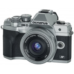 Camera Olympus OM-D E-M10 Mark IV (silver) + Lens Olympus ZD Micro 14-42mm f / 3.5-5.6 EZ ED MSC (Silver) + Memory card SanDisk 32GB Extreme PRO SDHC + Battery Olympus JUPIO BLS-50 BATTERY