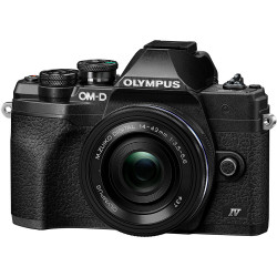 Camera Olympus OM-D E-M10 Mark IV (black) + Lens Olympus ZD Micro 14-42mm f / 3.5-5.6 EZ ED MSC (Black)