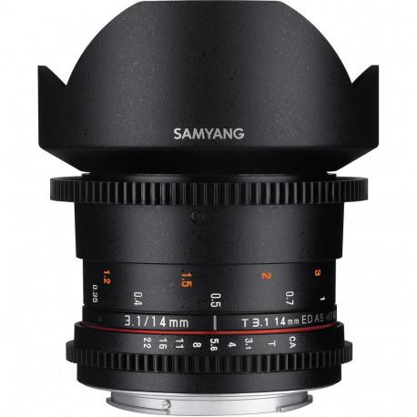 Samyang 14mm T/3.1 VDSLR ED AS IF UMC II - Canon EF