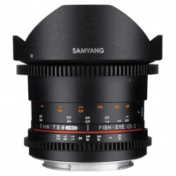обектив Samyang 8mm T/3.8 VDSLR Fish-eye CS II - Canon EF