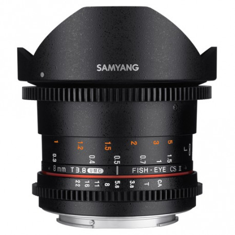 Samyang 8mm T/3.8 VDSLR Fish-eye CS II - Canon EF
