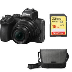 Nikon Z50 + обектив Nikon Z DX 16-50mm VR + карта SanDisk SDHC EXTREME 16GB + чанта Nikon