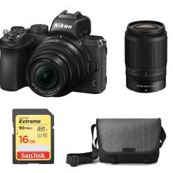 Nikon Z50 + обектив Nikon Z DX 16-50mm VR + обектив Nikon Z DX 50-250mm VR + карта SanDisk SDHC EXTREME 16GB + чанта Nikon