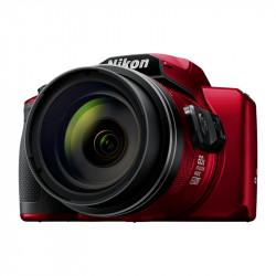 фотоапарат Nikon CoolPix B600 (червен) + чанта Nikon Case P-08 (черен)