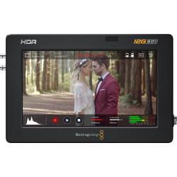"Video Device Blackmagic Video Assist 5"" 12G + Memory card Lexar Professional SDXC 128GB 1667x UHS-II + Battery B.I.G. NPF9 Li-Ion equivalent to Sony NP-F970 6600 mAh"