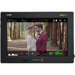 "Video Device Blackmagic Video Assist 7"" 12G + Memory card Lexar Professional SDXC 128GB 1667x UHS-II + Battery B.I.G. NPF9 Li-Ion equivalent to Sony NP-F970 6600 mAh"