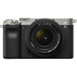фотоапарат Sony A7C (сребрист) + обектив Sony FE 28-60mm f/4-5.6