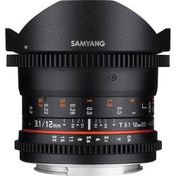 Lens Samyang 12mm T / 3.1 VDSLR - Canon EF