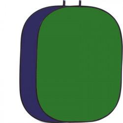 фон Helios 428402 сгъваем фон 150 x 200 см (зелен / син)