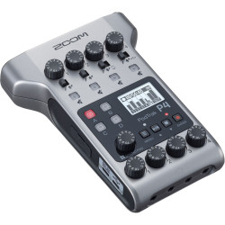 Audio recorder Zoom PodTrak P4 Portable Multitrack Podcast Recorder + Microphone Zoom ZDM-1 Podcast Microphone Pack