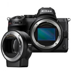 Camera Nikon Z5 + Lens Adapter Nikon FTZ Adapter (F Lenses to Z Camera)