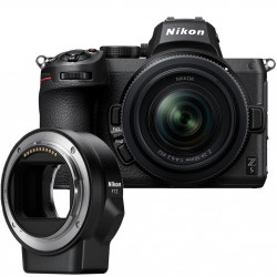 фотоапарат Nikon Z5 + обектив Nikon Z 24-50mm f/4-6.3 + адаптер Nikon FTZ