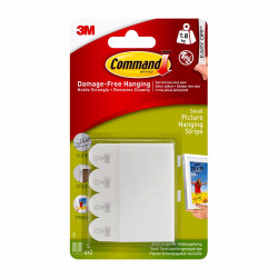 3M Command Picture Hanging Strips Small (white)