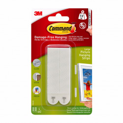 3M Command Picture Hanging Strips Large (white)