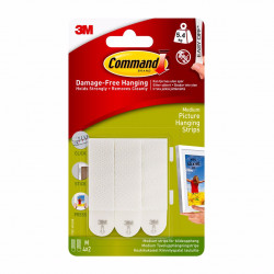 3M Command Picture Hanging Strips Medium (white)