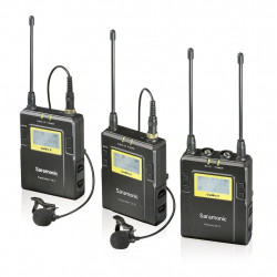 Microphone Saramonic UWMIC9 RX9 + TX9 + TX9 2-PERSON WIRELESS LAVALIER MIC SYSTEM WITH DUAL-CHANNEL RECEIVER