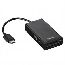 четец Hama 54144 USB 2.0 Type-C Hub/Card Reader