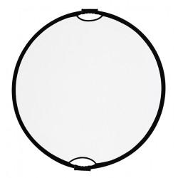 отражател Quadralite Отражателен диск 2 в 1 - 110 см сребристо/бяло