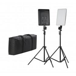 Lighting Quadralite Thea 450 LED Panel Kit - studio lighting set