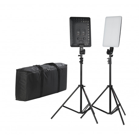 Quadralite Thea 450 LED Panel Kit - studio lighting set