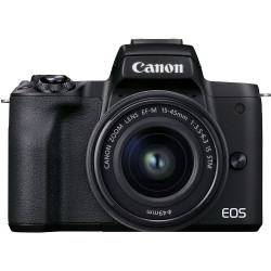 Camera Canon EOS M50 Mark II (black) + Lens Canon EF-M 15-45mm f / 3.5-6.3 IS STM