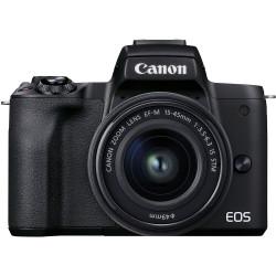 фотоапарат Canon EOS M50 Mark II (черен) + обектив Canon EF-M 15-45mm f/3.5-6.3 IS STM + карта Lexar Professional SD 64GB XC 633X 95MB/S
