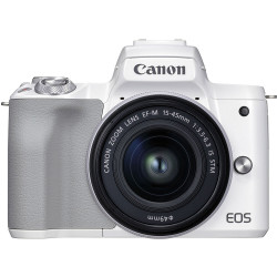фотоапарат Canon EOS M50 II (бял) + 15-45mm + батерия Canon LP-E12 Battery Pack