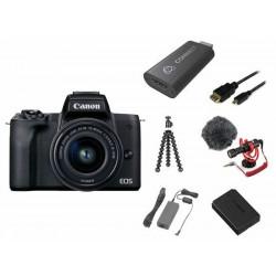 фотоапарат Canon EOS M50 Mark II Premium Live Stream Kit (черен) + батерия Canon LP-E12 Battery Pack