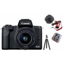 Camera Canon EOS M50 Mark II Vlogger Kit (black) + Memory card Lexar Professional SD 64GB XC 633X 95MB / S