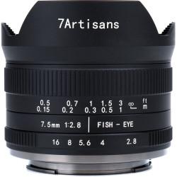 Lens 7artisans 7.5mm f / 2.8 Fisheye II - MFT