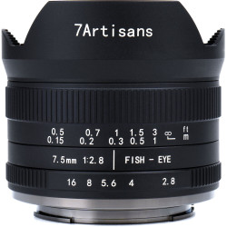 обектив 7artisans 7.5mm f/2.8 Fisheye II - Fujifilm X