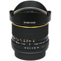 обектив Samyang Samyang 8 mm f/3.5 Aspherical Fish-eye CS - Canon EF (употребяван)