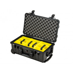 куфар Peli Case 1510 с разделители (черен)