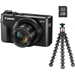 фотоапарат Canon PowerShot G7 X Mark II Vlogger Kit + чанта Case Logic BRCS-102 Shouder Bag + батерия Duracell DRC13L еквивалент на Canon NB-13L