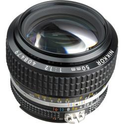 обектив Nikon NIKKOR 50mm f/1.2 + Nikon HR-2 Rubber Lens Hood (употребяван)