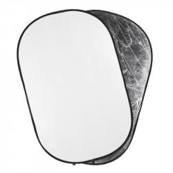отражател Quadralite Отражателен диск 2 в 1 - 90x120 см сребристо/бяло