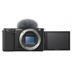 фотоапарат за влогинг Sony ZV-E10 + обектив Sony SEL 10-18mm f/4 + микрофон Sony ECM-W2BT
