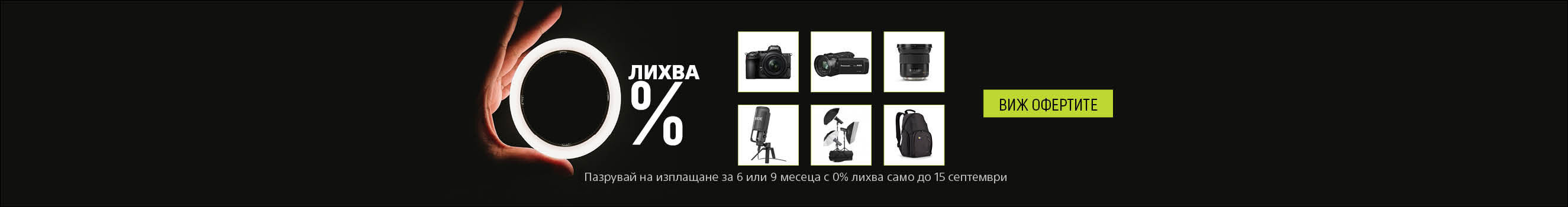 Canon cameras, lenses, flashes, camcorders, etc. with no Interest for 6 or 9 months!