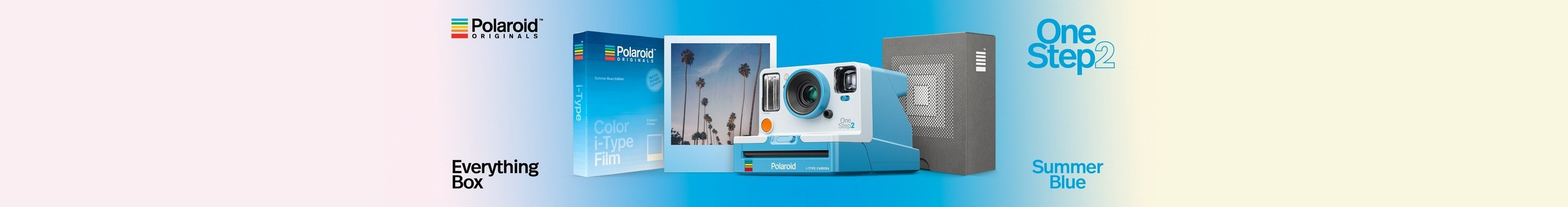 Polaroid Originals One Step 2 Summer Blue Everything Box